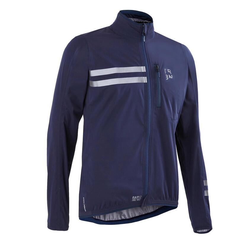 Giacca impermeabile ciclismo uomo RC500 blu