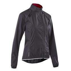 RC 500 Women's Showerproof Cycling Jacket - Black
