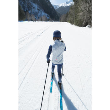 Collant de ski de fond bleu XC S TIGHT 500 enfant