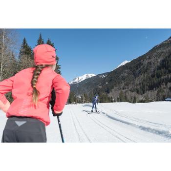 Bonnet de ski de fond rose XC S BEANIE 500 FILLE