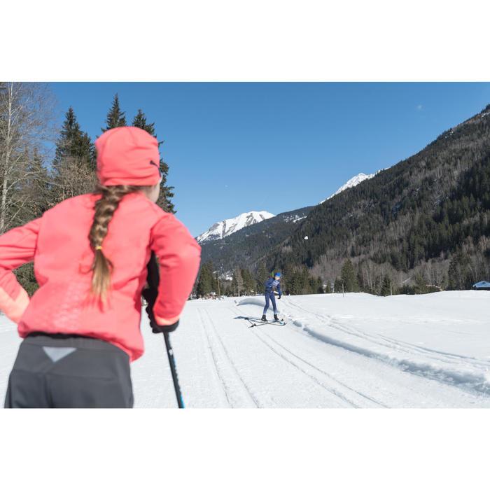 Gorro de esquí de fondo rosa XC S BEANIE 500 NIÑA