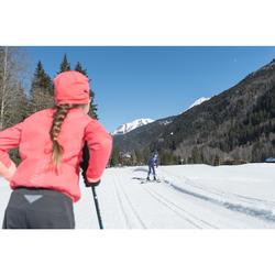 Veste de ski de fond rose XC S JACKET 550 fille