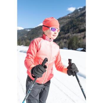 Gant de ski de fond chaud noir XC S 100 enfant