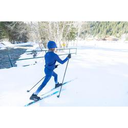 Veste de ski de fond bleu XC S JACKET 550 enfant