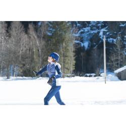 Tee-shirt chaud bleu manches longues XC S TS 100 enfant