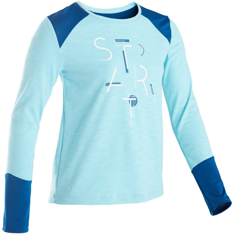 GIRL EDUCATIONAL GYM APPAREL Fitness and Gym - 500 Girls' Breathable T-Shirt DOMYOS - Gym Activewear