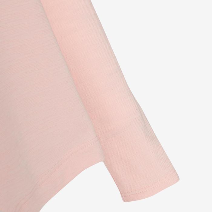 T-shirt manches longues coton respirant 500 fille GYM ENFANT rose, imprimé