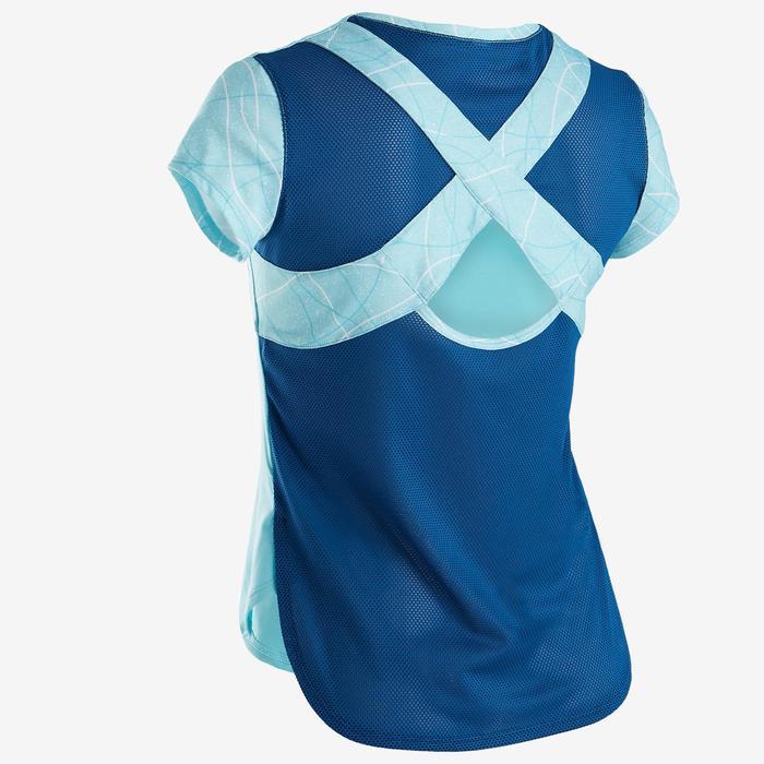 T-Shirt manches courtes respirant S900 fille GYM ENFANT bleu AOP