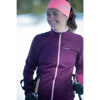 Veste légère de ski de fond violette XC S JKT 500 FEMME