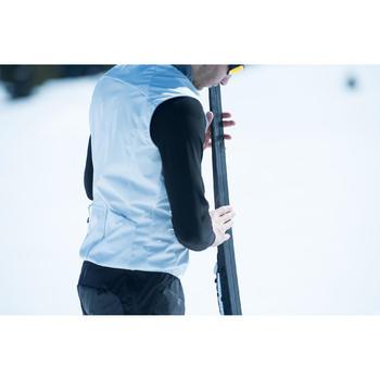 Bodywarmer voor langlaufen heren 500 grijs