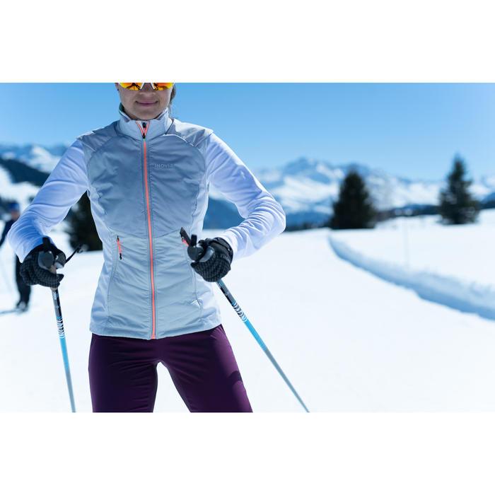 Gilet de ski de fond femme XC S VEST 500 blanc