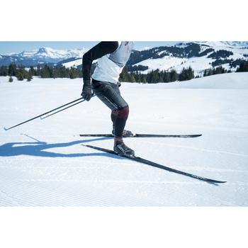Short chaud de ski de fond noir XC S SHORT 500 - homme
