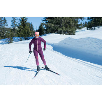 Collant de ski de fond violet XC S TIGHT 500 FEMME