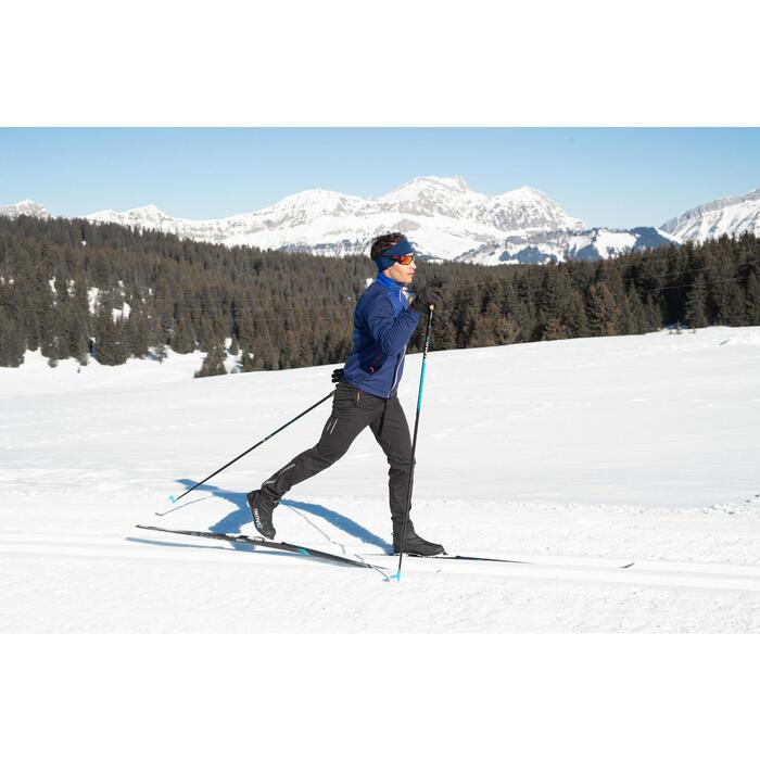 Veste de ski de fond bleu XC S JACKET 550 HOMME