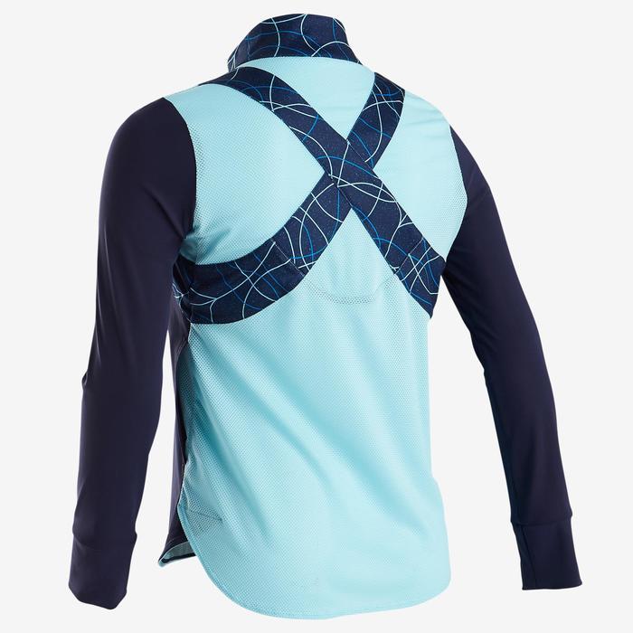 Licht en ademend gymvest voor meisjes S900 blauw AOP