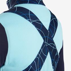 Veste légère respirante S900 fille GYM ENFANT bleu AOP