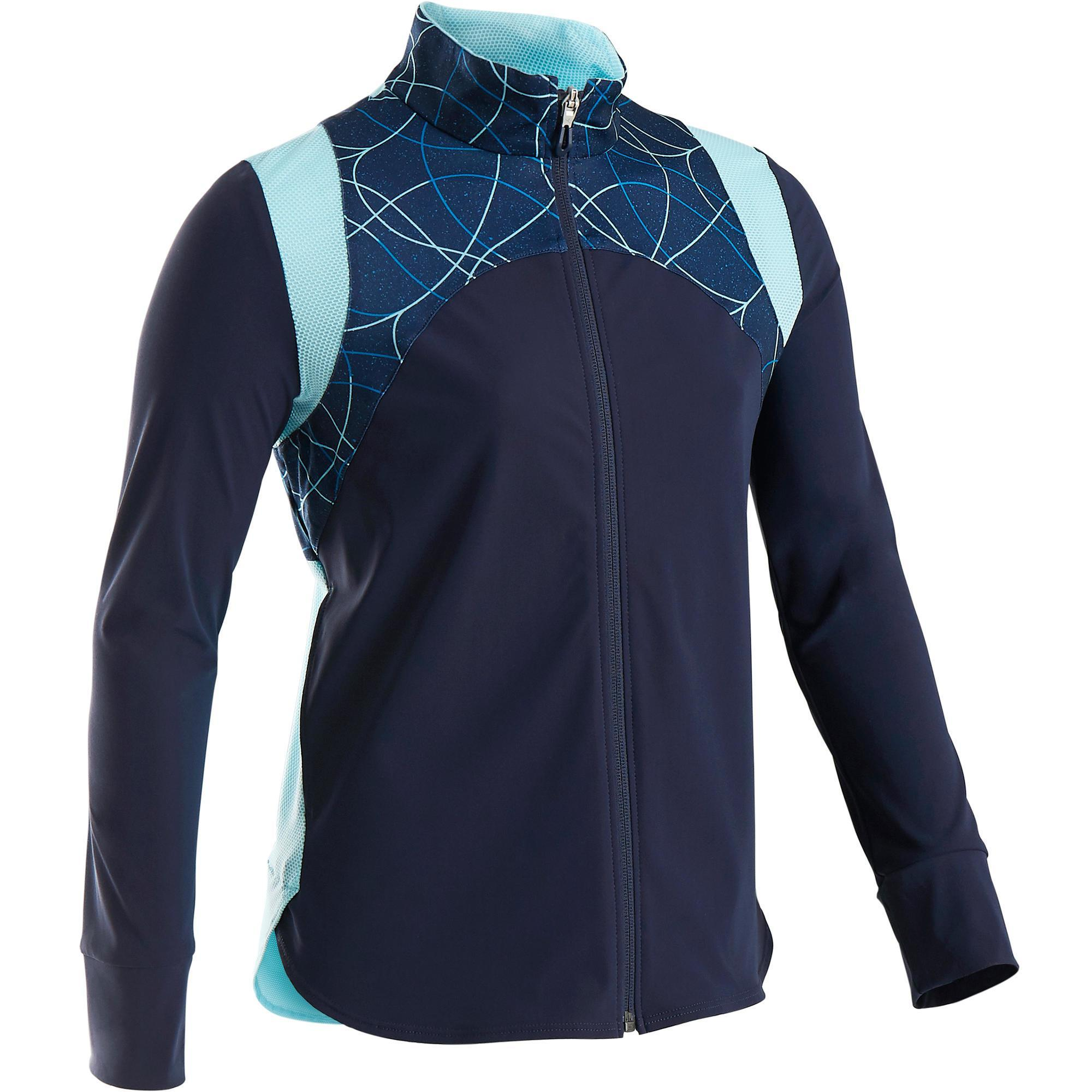 Trainingsjacke Light atmungsaktiv S900 Gym Kinder blau