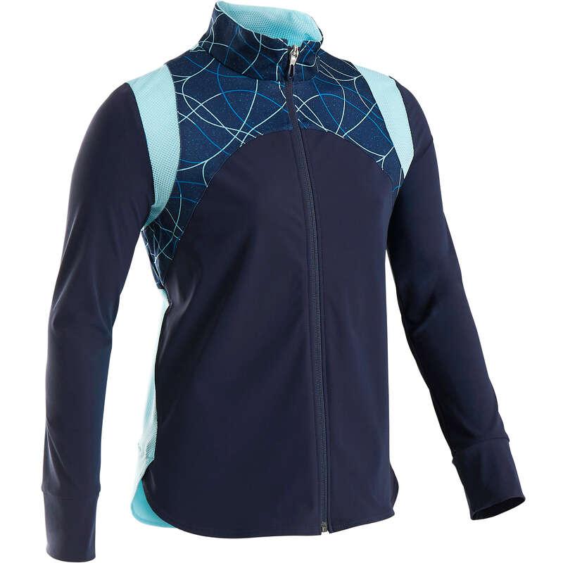 ОДЕЖДА ДЛЯ ДЕВОЧЕК Физкультура - Куртка лег. S900 д гим син AOP DOMYOS - Одежда для девочек