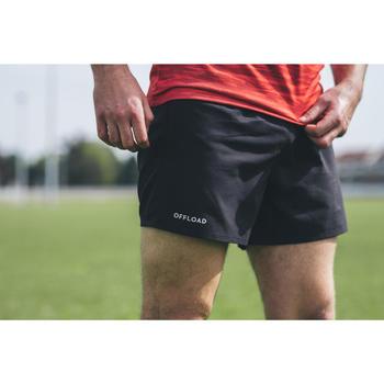 Rugbyshorts R100 Herren schwarz