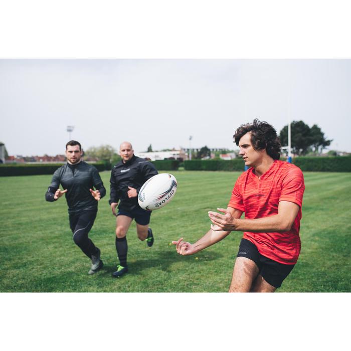 Short de rugby R500 homme noir