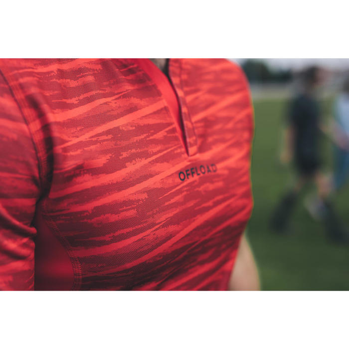 Rugbyshirt voor heren R500 rood