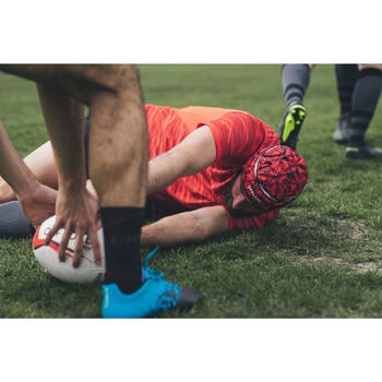 Chaussettes de rugby antidérapantes R500 Mid