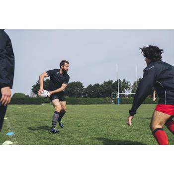 Medias Rugby Offload R500 adulto gris y negro