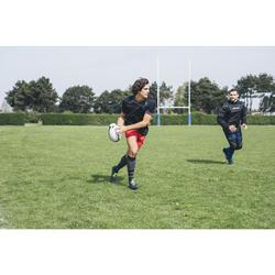 Rugbyshort met zakken voor volwassenen R100 rood