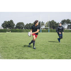 SHORT CLUB RUGBY SANS POCHE R100 adulte rouge