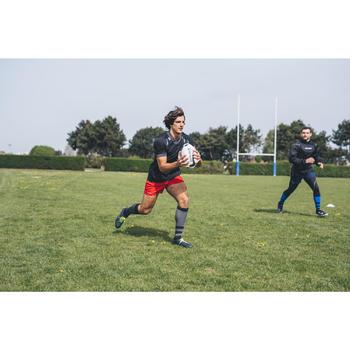 Rugbyshorts R100 mit Taschen Erwachsene rot