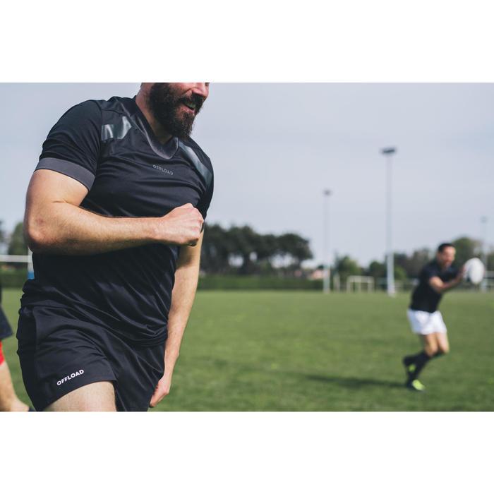 Rugbytrikot R100 Herren schwarz