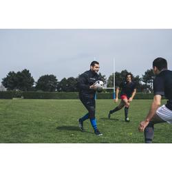 Rugby-Tights 500 Erwachsene schwarz