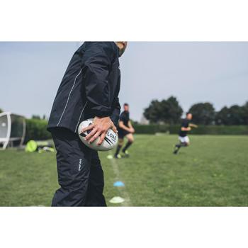 Waterdichte rugbybroek R500 zwart (volwassenen)