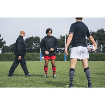 Wind- en waterdichte rugbybroek voor volwassenen Smock pant 500 zwart