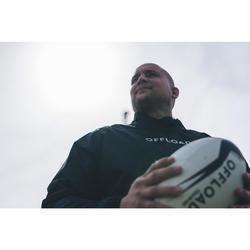 Coupe vent imperméable Smocktop pluie de rugby R500 adulte noir