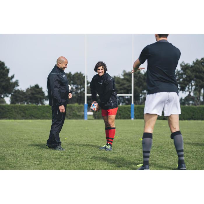 Hoge rugbysokken heren R500 rood/zwart