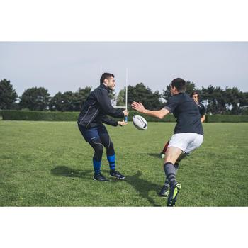 Rugbyshorts R100 mit Taschen Erwachsene weiß
