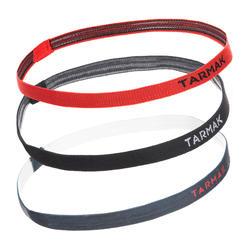Women's Basketball Elastic Headband Pack - Hitam/Abu-abu/Merah