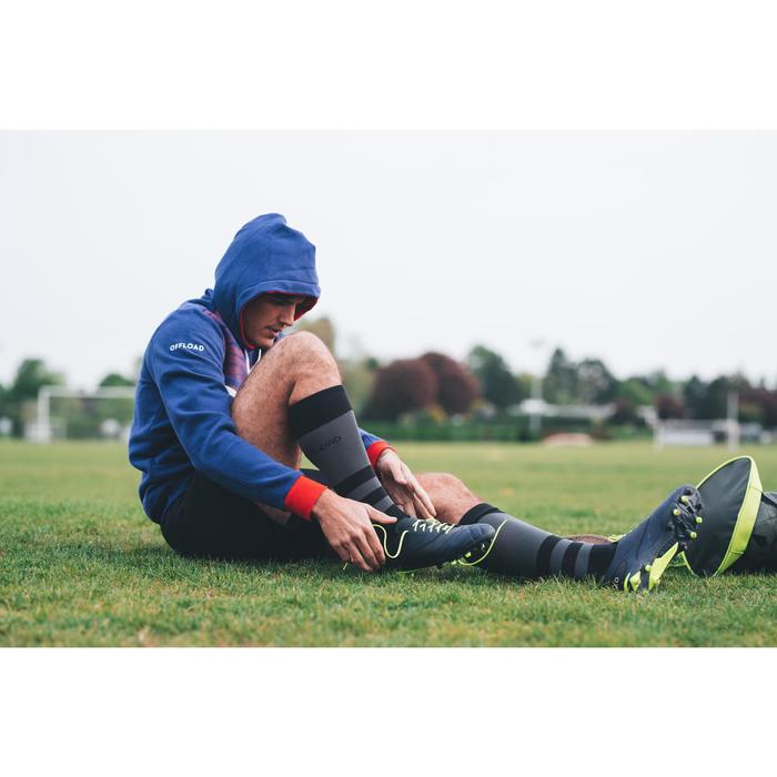 Rugbyschoenen voor droog terrein Density R100 FG blauw/geel