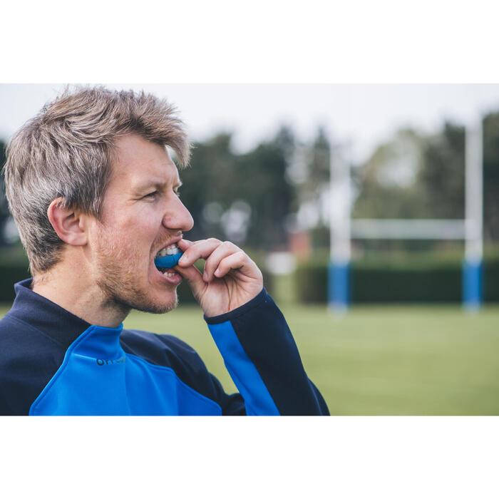 Protège dents rugby R500 Taille M bleu (joueur(se) de 1.40M à 1.70M)