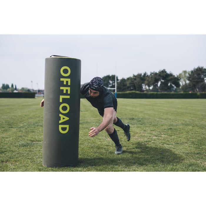 Casque rugby 500 adulte noir/gris