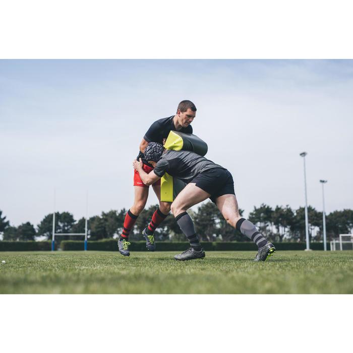 Casco de rugby 500 adulto negro/gris