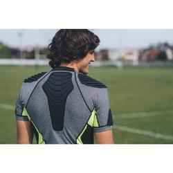 Rugby-Schulterschutz R900 Herren grau/gelb