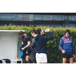 Hoody voor rugby R500 volwassenen blauw