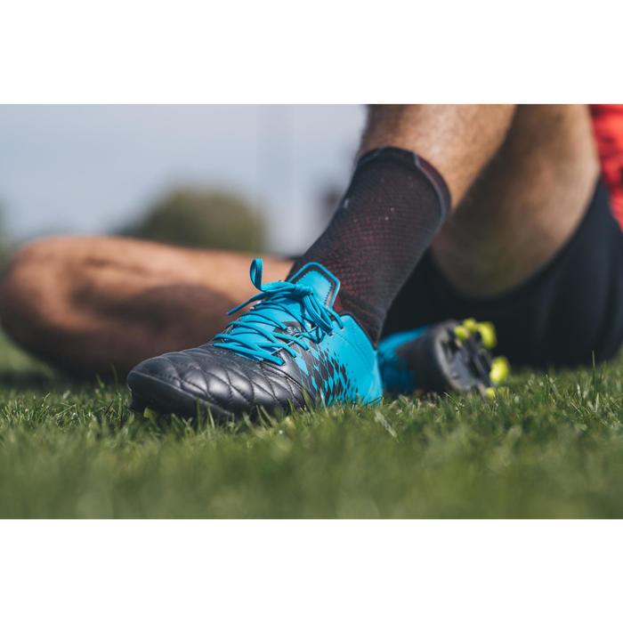 Chaussure de rugby adulte terrains secs Agility R900 FG bleue noir