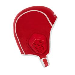Bonnet water polo 500 junior easyplay à scratch rouge