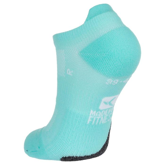 Calcetines invisibles fitness cardio-training x2 azul turquesa