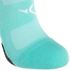Chaussettes invisibles fitness cardio training x2 turquoise