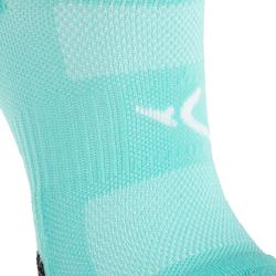 Onzichtbare sokken fitness cardiotraining 2 paar turquoise