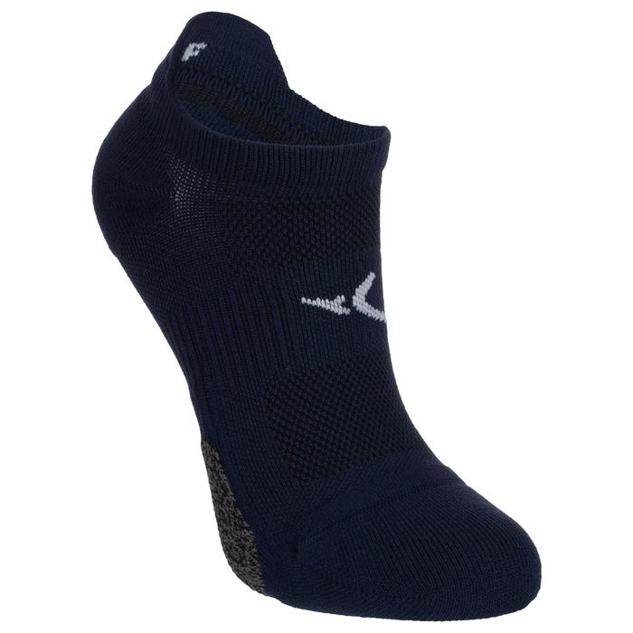 Calcetines Fitness Cardio Domyos Adulto Azul Asfalto Pack 2 Invisibles